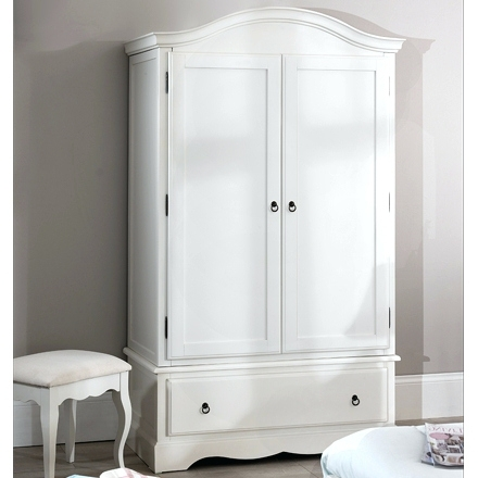 Famous Shabby Chic White Wardrobes Inside Wardrobes ~ Romance Shabby Chic White Double Wardrobe 1 Drawer  (View 1 of 15)