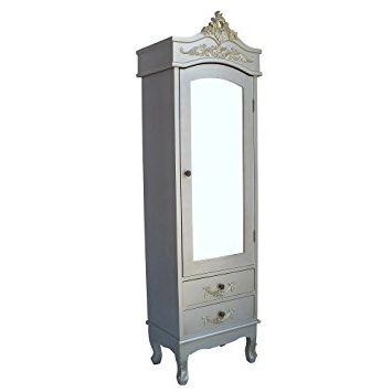 Famous Silver French Wardrobes Inside French Wardrobe Antiqued Silver French Armoire Shabby Chic Chateau (View 13 of 15)