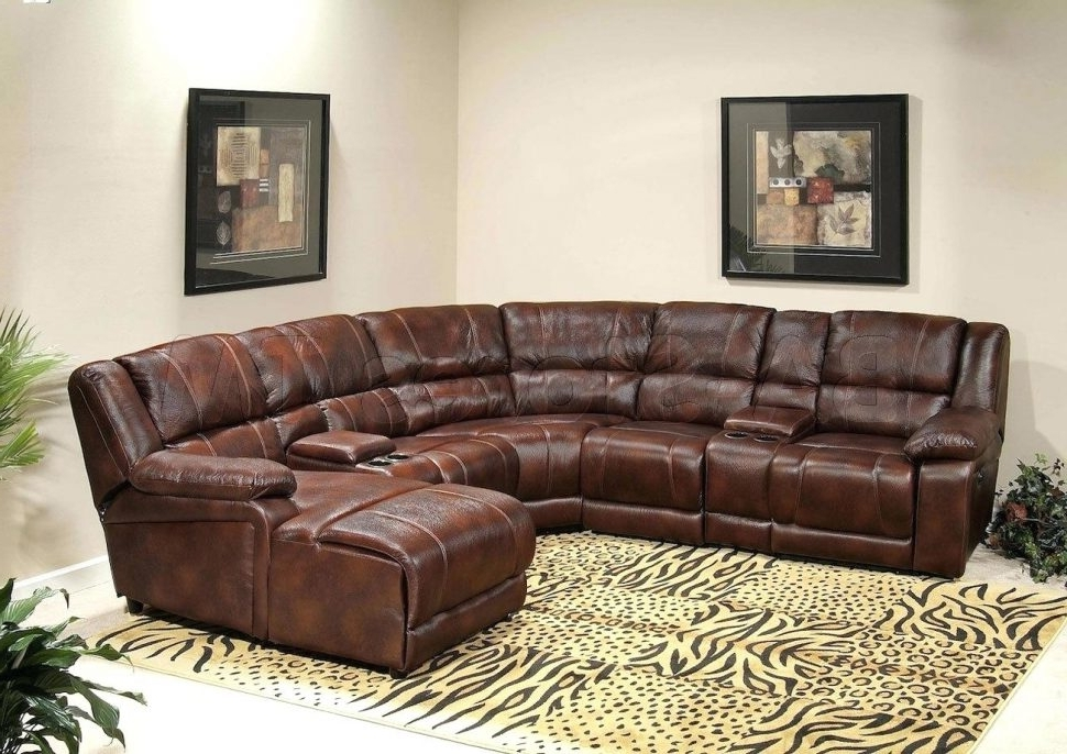 Famous Sofa : Leather Sofa Chaise Med Brownchaise Lounge Brown With In In Brown Leather Sectionals With Chaise (View 4 of 15)