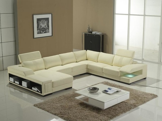 Famous U Shape Sectional With Storage Shelves – Modern – Living Room Intended For Modern U Shaped Sectionals (View 1 of 10)