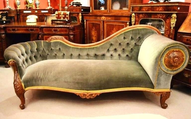 Famous Vintage Chaise Lounge Chair Antique French Walnut Chaise Antique  With Regard To Vintage Chaise Lounge