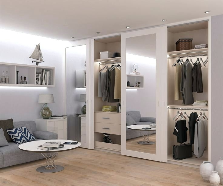 Famous Wardrobes ~ Full Height Mirror Doors Inside The Spray Painted Mdf Intended For Full Mirrored Wardrobes (View 2 of 15)