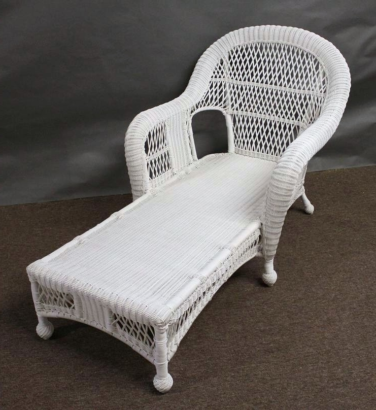 Famous Wicker Chaise Lounge Chairs Intended For Resin Wicker Chaise Lounge Chair Design Ideas (View 9 of 15)