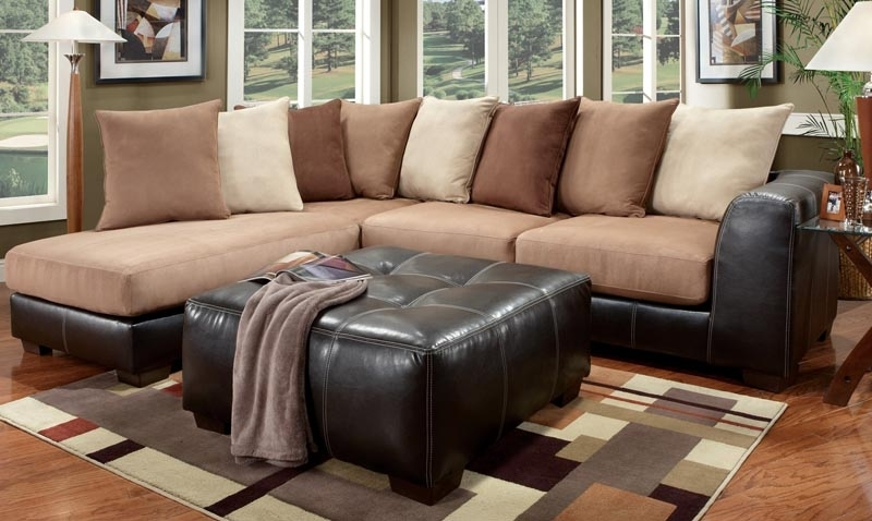 Farmers Furniture Sectional Sofas Intended For Fashionable Fhf – Catalog – Idol Brown Sectional (View 1 of 10)