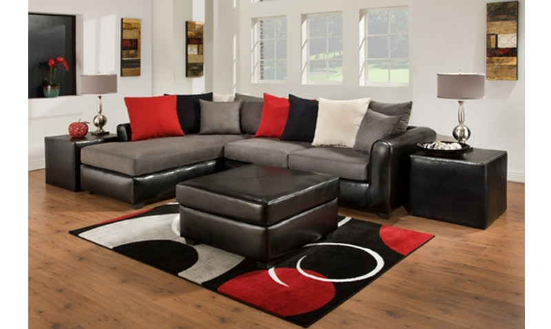 Farmers Furniture Sectional Sofas Throughout Most Popular Living Room Set Furniture In Black (View 3 of 10)