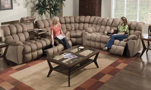 Farmers Furniture Sectional Sofas With Regard To Latest Fhf – Catalog – Super Reclining Sectional (View 4 of 10)