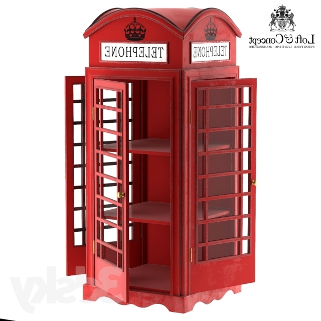 Fashionable 3d Models: Wardrobe & Display Cabinets – Showcase London Telephone Box With Telephone Box Wardrobes (View 3 of 15)