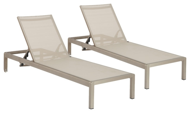 Featured Photo of Outdoor Mesh Chaise Lounge Chairs