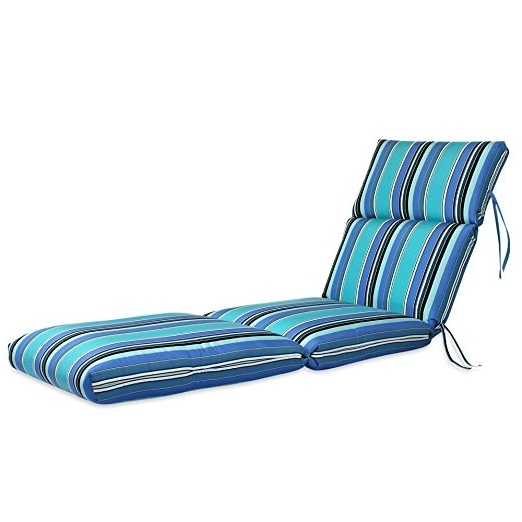 "Fashionable Amazon : 22W X 72L X 5H Hinge At 26"" Sunbrella Outdoor Inside Sunbrella Chaise Lounge Cushions (View 2 of 15)"