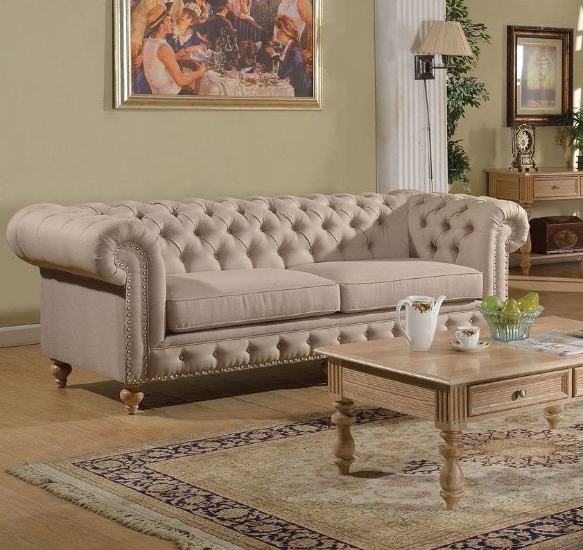 Fashionable Awesome Tufted Linen Sofa 70 Modern Sofa Design With Tufted Linen In Tufted Linen Sofas (View 3 of 10)