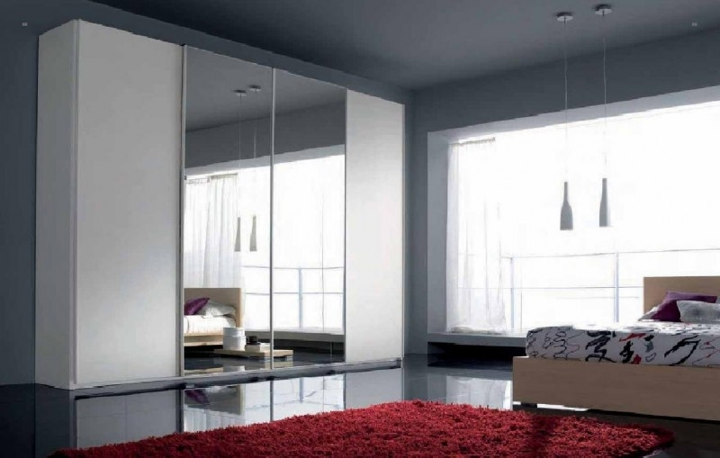 Fashionable Bedroom Sliding Wardrobe Doors – Interior4You With Mirror Wardrobes (View 3 of 15)