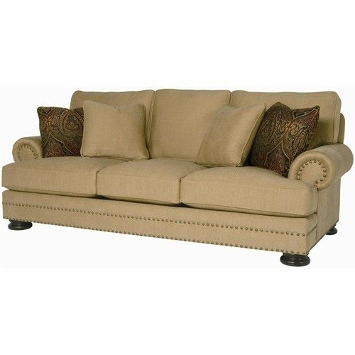 Fashionable Bernhardt Foster Stationary Sofa With Nailhead Trim – Belfort Pertaining To Maryland Sofas (View 5 of 10)