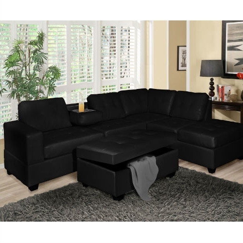 Fashionable Black Sectional Sofas For Going Sophisticated With Black Sectional Sofas – Elites Home Decor (View 8 of 10)