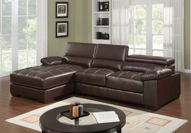 Fashionable Brown Leather Sectionals With Chaise Pertaining To Sectional Sofa Design: Leather Sectional Sofa Chaise Leather Sofas (View 5 of 15)