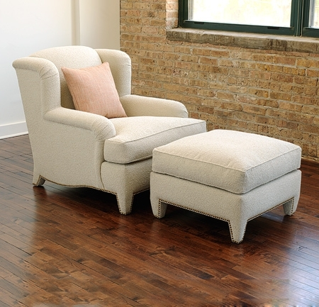 Fashionable Chairs With Ottoman Throughout Colette Lounge Chair And Ottoman – Lounge Chairs, Ottomans (View 3 of 10)