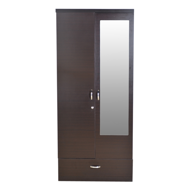 Fashionable Cheap 2 Door Wardrobes With Buy Utsav Two Door Wardrobe With Mirror In Wenge Finish Online In (View 9 of 15)