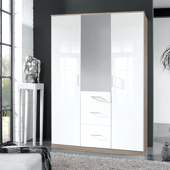 Fashionable Cheap White Wardrobes Sets In Wardrobes ~ Whitemirrored Sliding Wardrobe Door And Interior Kit (View 9 of 15)