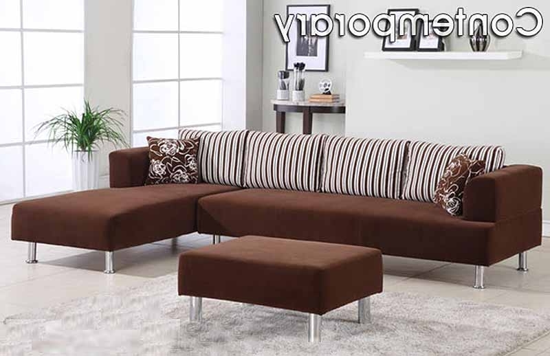 Fashionable Contemporary Fabric Sofas Throughout Contemporary Micro Fiber Sectional Sofa (View 6 of 10)