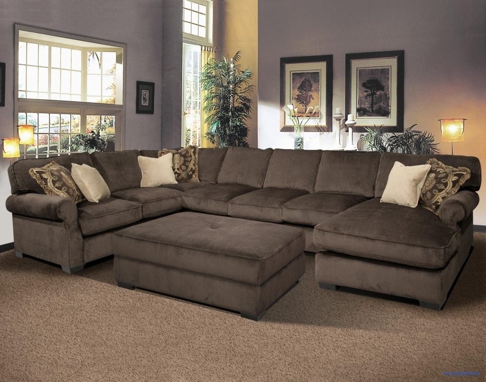 Fashionable Deep Sectional Sofas With Chaise Intended For Large Leather Sectional Sofa Full Sectional Couch Tan Sectional (View 10 of 15)