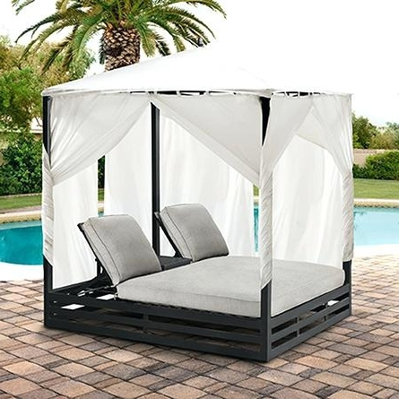 Fashionable Double Chaise Lounge With Canopy – Colbycolby (View 5 of 15)