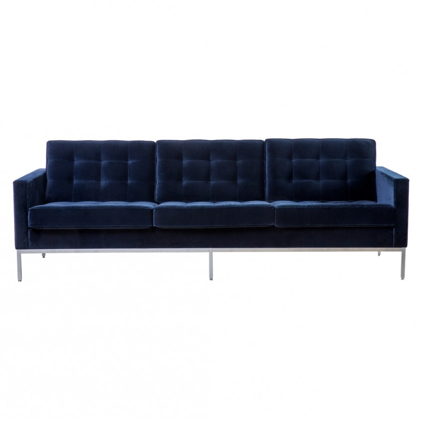 Fashionable Florence Knoll 3 Seat Sofa York Velvet – The Conran Shop In Florence Knoll 3 Seater Sofas (View 1 of 10)