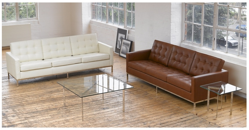 Fashionable Florence Knoll Leather Sofas For Florence Sofa, Cream White Premium Leather (View 5 of 10)