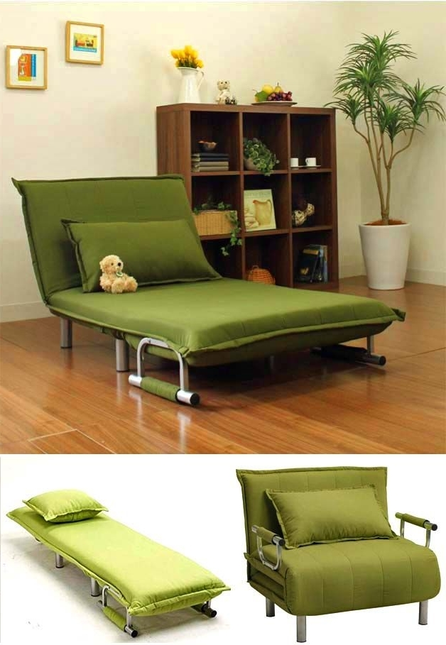Fashionable Folding Sofas, Beds And Chaise Lounges For Small Spaces Regarding Folding Sofa Chairs (View 5 of 10)