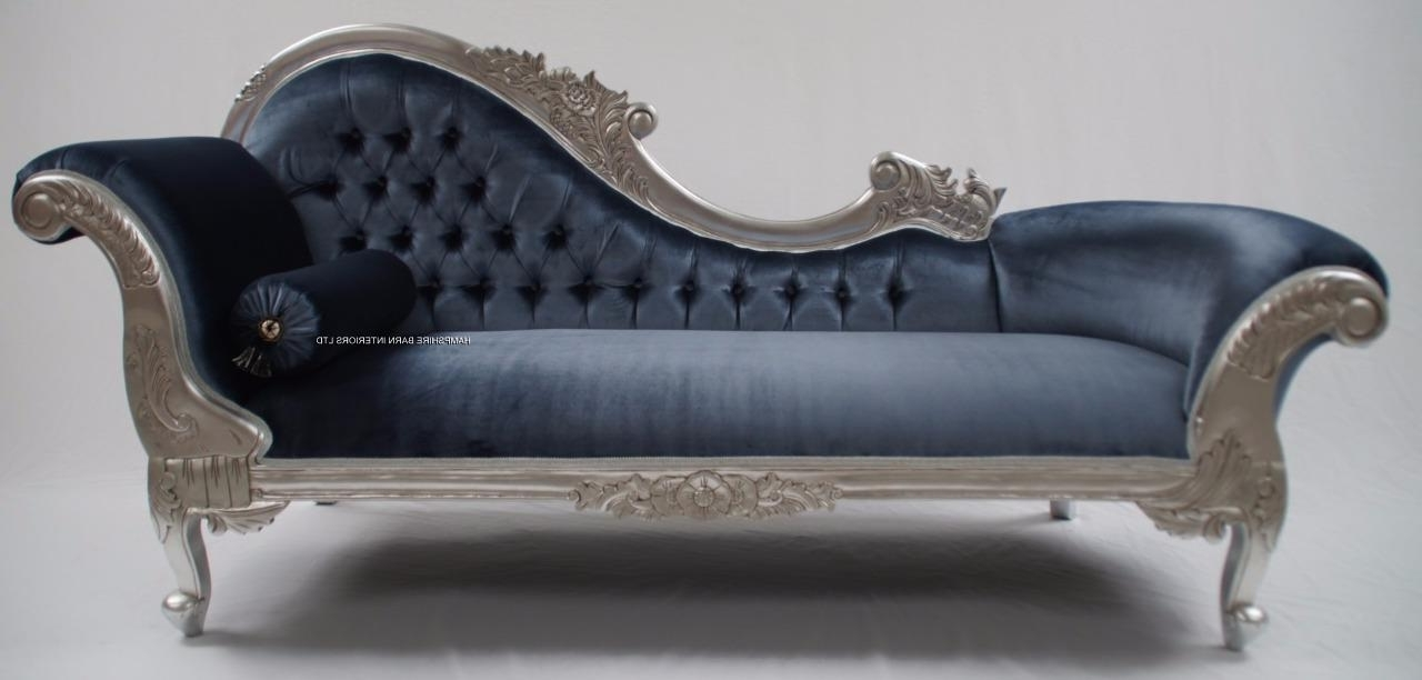 Fashionable Grey Chaise Lounges Intended For Amazing Of Grey Chaise Lounge With Chaise Longue Velvet (View 5 of 15)