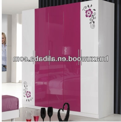 Fashionable High Gloss Paint Five Door Wardrobe – Buy High Gloss Paint Intended For Pink High Gloss Wardrobes (View 3 of 15)
