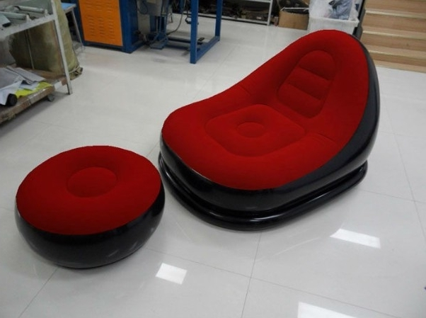 Fashionable Inflatable Sofas And Chairs Regarding Flocked Pvc Inflatable Chair And Sofa For Both Adu Manufacturers (View 3 of 10)