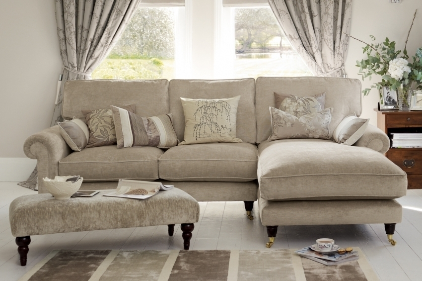 "Fashionable Kingston"" Sectional Sofa With Chaise In Sable Beige From Laura Inside Kingston Sectional Sofas (View 5 of 10)"