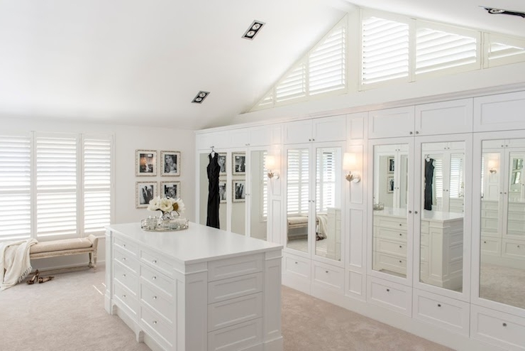 Fashionable Mirrored Closet Doors – Transitional – Closet – Veranda House Within French Built In Wardrobes (View 2 of 15)