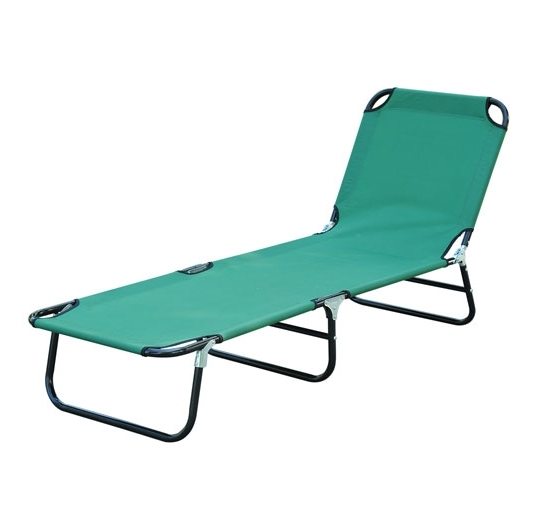 Fashionable Outdoor Sun Chaise Lounge Recliner Patio Camping Cot Bed Beach Regarding Folding Chaise Lounge Chairs (View 6 of 15)