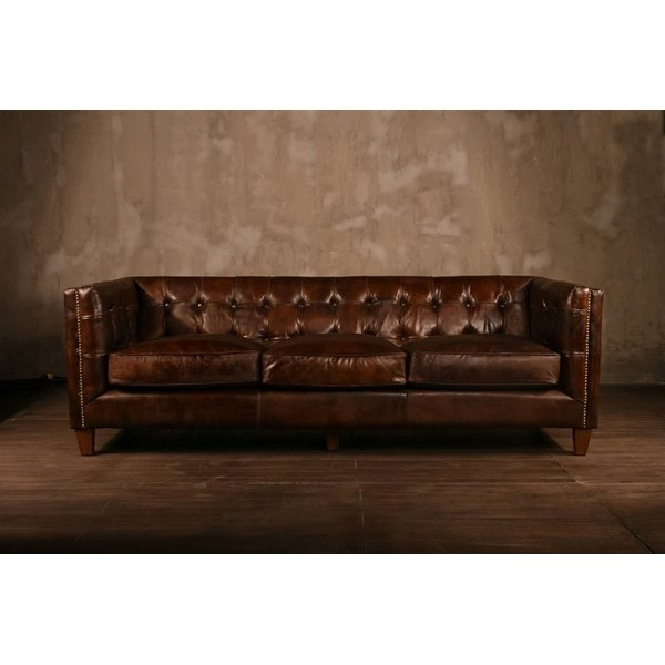 Fashionable Polivaz Leather Chesterfield Sofa & Reviews (View 5 of 10)