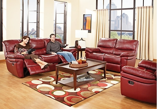 Fashionable Red Leather Couches For Living Room Regarding Unique Red Leather Living Room Furniture 22 On Sofa Design Ideas (View 3 of 10)