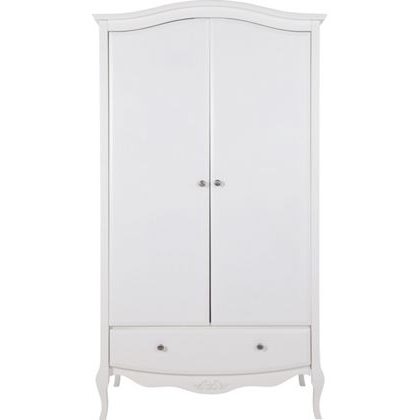 Fashionable Schreiber Alysa 2 Door Wardrobe With Drawer – Off White At Pertaining To White 2 Door Wardrobes With Drawers (View 5 of 15)