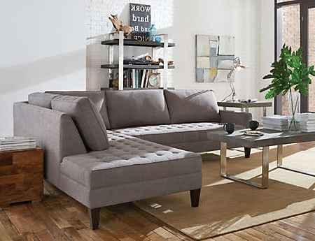 Fashionable Sectional Sofas Art Van Pertaining To Dune 2 Piece Sectional – Art Van Furniture (View 2 of 10)