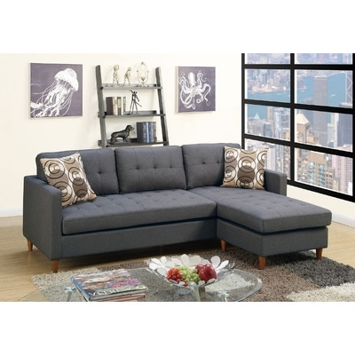 Fashionable Sectionals With Reversible Chaise Regarding Buy Mendosia Reversible Chaise Sectional Upholstery: Gray (View 15 of 15)