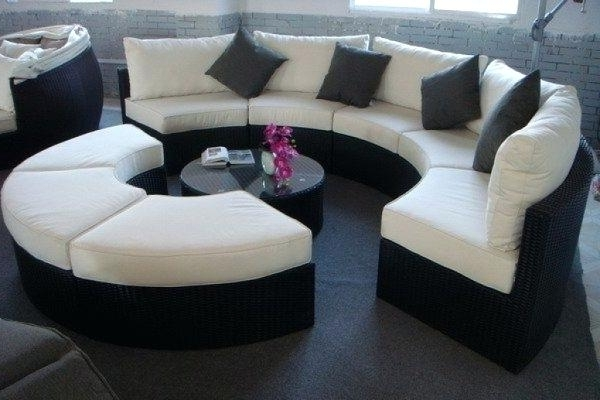Fashionable Semicircular Sofas In Round Couch Best Round Couches Images On Curved Couch Diapers For (View 4 of 10)