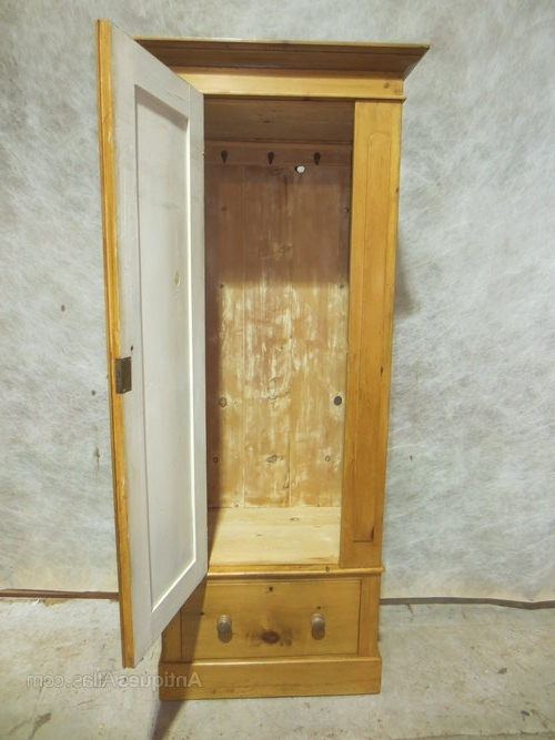 Fashionable Single Pine Wardrobes For Pine Single Wardrobe – Antiques Atlas (View 4 of 15)