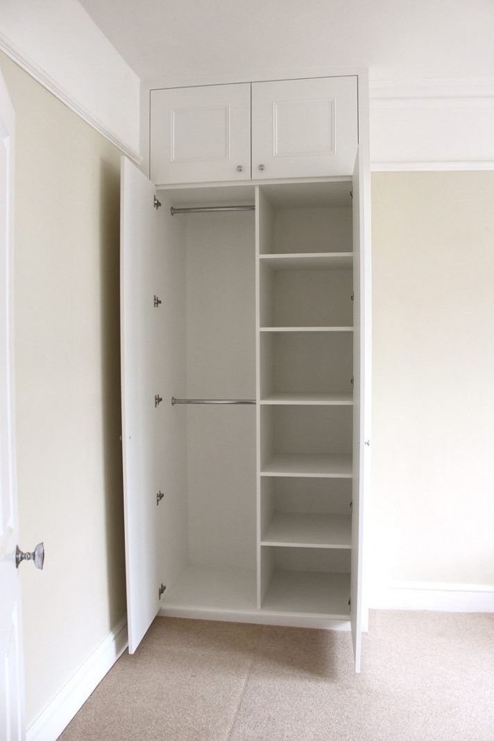 Fashionable Small Single Wardrobes Regarding Small Wardrobe With Shelves White Triple Closet Single Wardrobes (View 2 of 15)