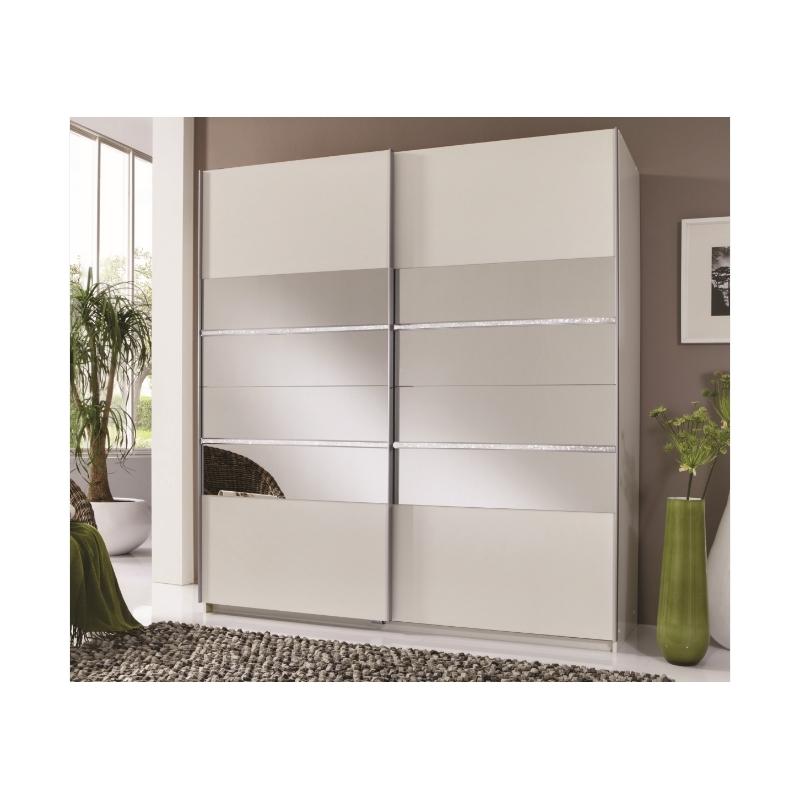 Fashionable Sophia 2 Door White Mirror Panel Sliding Wardrobe – Forever For Sophia Wardrobes (View 2 of 15)