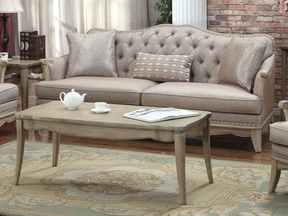 Fashionable Tufted Linen Sofas Intended For Ashden Tufted Linen Classic Sofa (View 4 of 10)