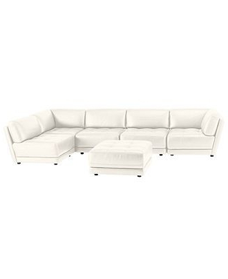 Fashionable Vice Versa 6 Piece Modular Tufted Leather Sectional – Sectionals Pertaining To Macys Leather Sectional Sofas (View 2 of 10)