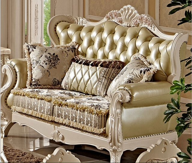 Fashionable Villa Antique Sofa Set Designs Fc8800 In Living Room Sofas From  With Regard To Antique