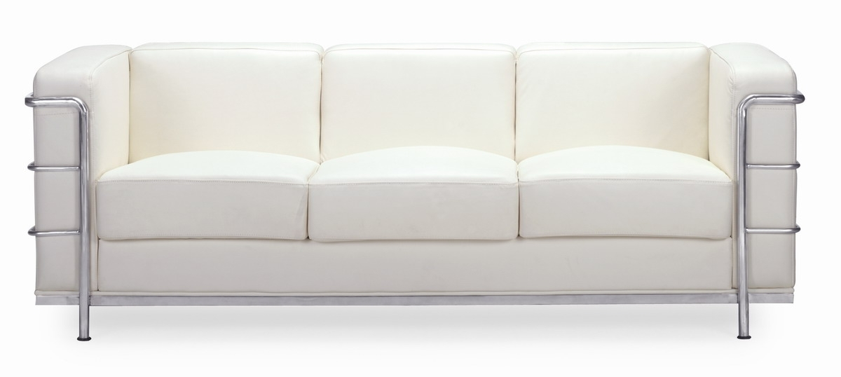 Fashionable White Modern Sofas In Zuo Modern Fortress Sofa – White Zm 900231 At Homelement (View 1 of 10)
