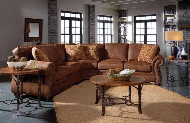 Faux Leather Sectional Sofas Regarding Most Current Broyhill Laramie Sectional Sofa With Wedge 5080 2 5080 8 Faux (View 6 of 10)