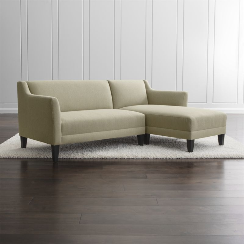 Favorite 2 Seat Sectional Sofas Within Shop Margot 2 Piece Sectional Sofa (View 5 of 10)