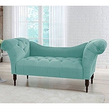 Favorite Amazon: Skyline Furniture Tufted Chaise Lounge In Caribbean For Tufted Chaises (View 13 of 15)