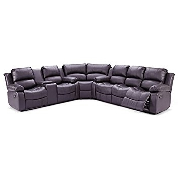 Favorite Amazon: Ufe Richmond Sectional Sofa With 4 Recliners Bonded Inside Richmond Va Sectional Sofas (View 4 of 10)